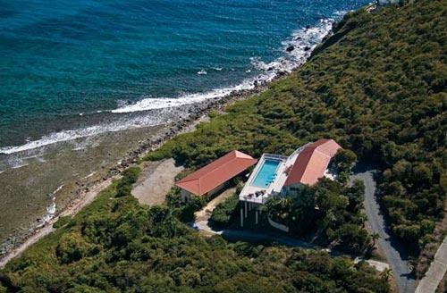 Aerial of Rendezview Villa