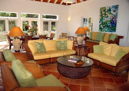The Large Great Room Is Furnished With Indonesian, American Antiques, And  Contemporary, Comfortable, Plantation Style Furniture.