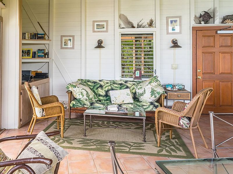 Living Room at Tradewinds Cottage