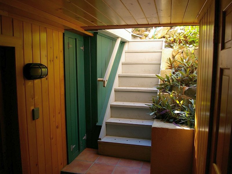 Outdoor Stairs to Downstairs Bedroom