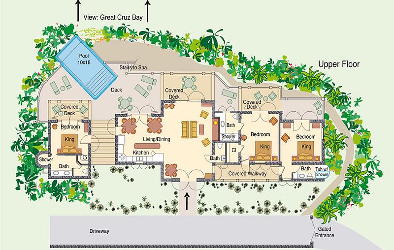 Oceana Upper Floor Plan