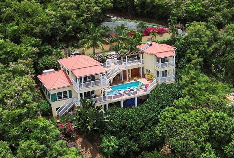 Aerial View of Villa Madeira