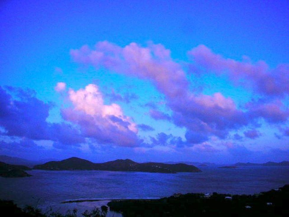 Coral Bay backwards sunset