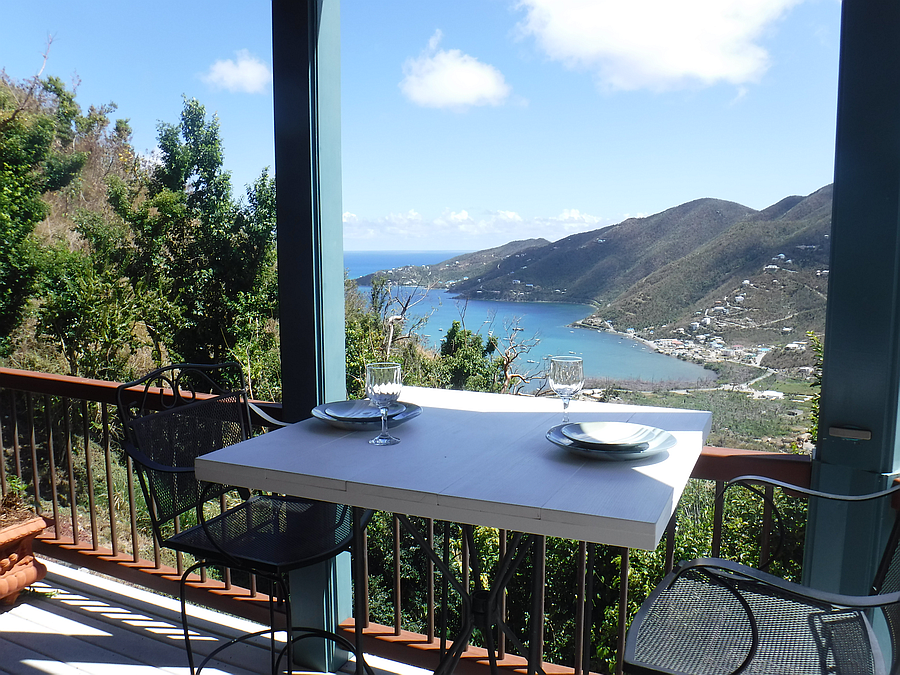 Outdoor table with a view.