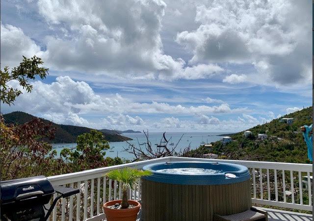 Hot tub view.