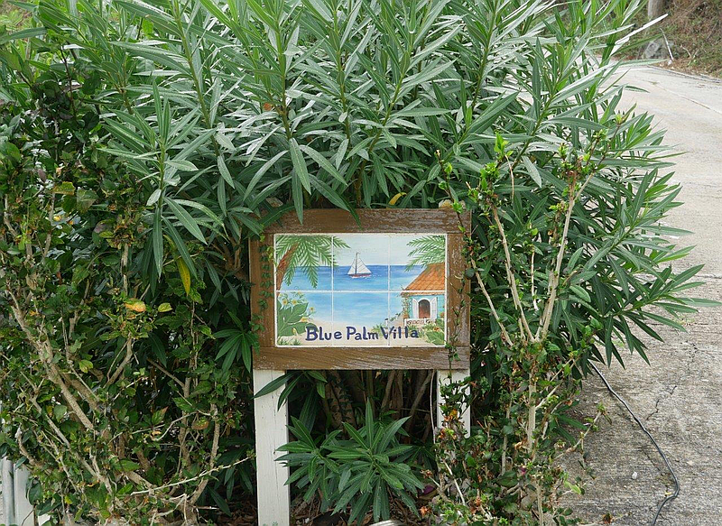 Blue Palm Villa Sign
