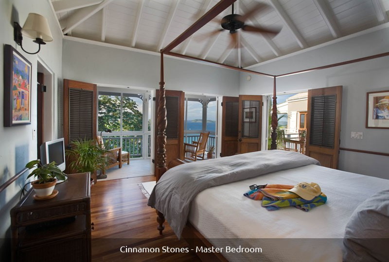 Master Suite at Cinnamon Stones on St John Virgin Island