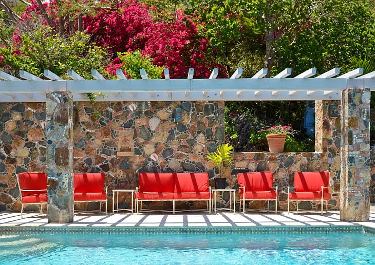 Red-Chairs-By-Pool