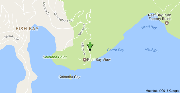 Map for Reef Bay Holiday Villa