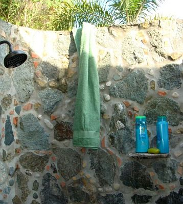 Stone Outdoor Shower
