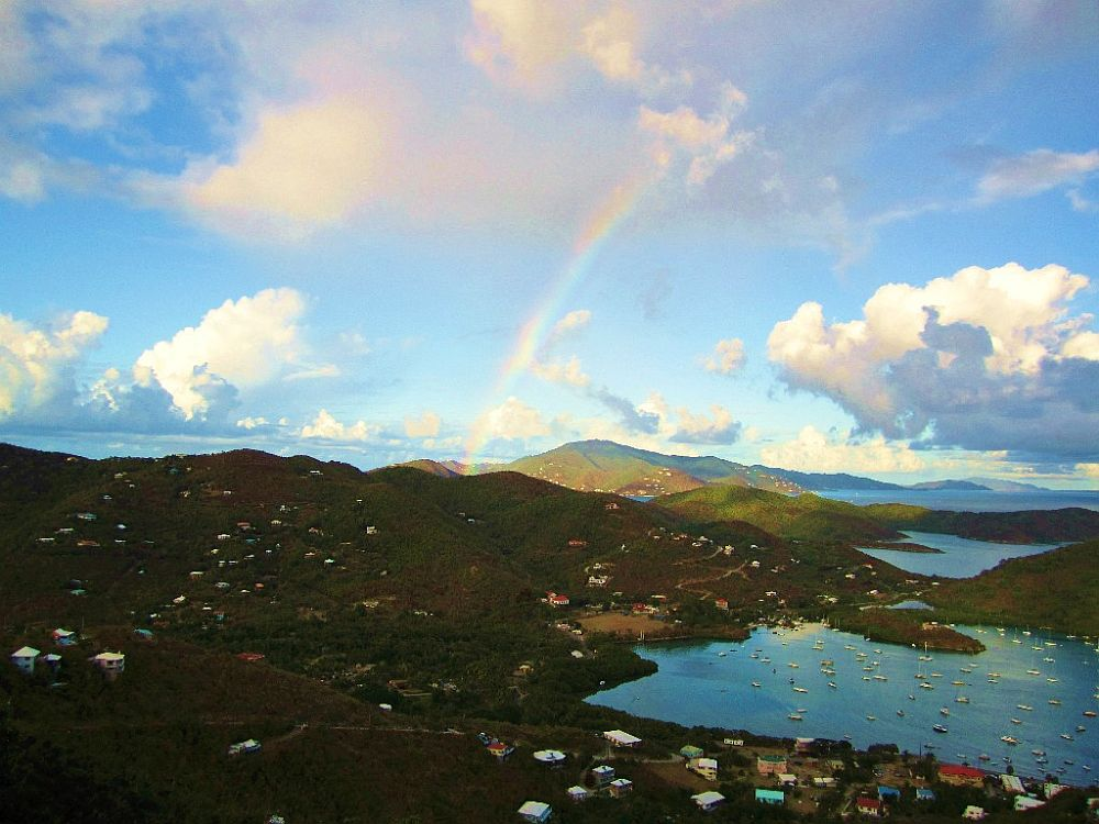 Rainbow over Coral Bay