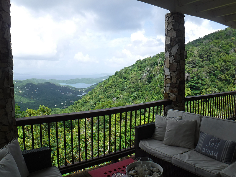 Outdoor living and view.