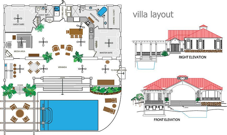Floor Plan at Arc du Soleil