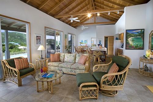 Living Room at Hummingbird's Seacret