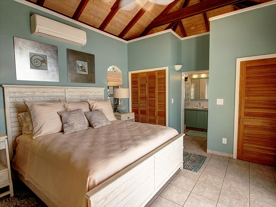 One of two master suites.