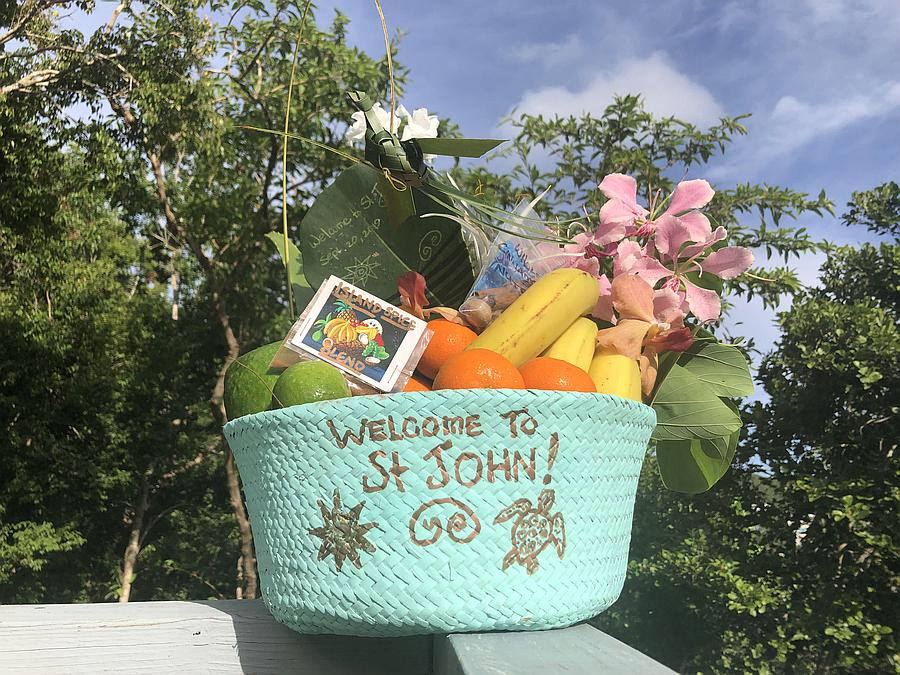 A St John Welcome Gift Basket