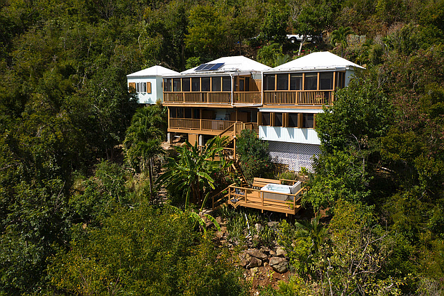 Gecko House aerial view