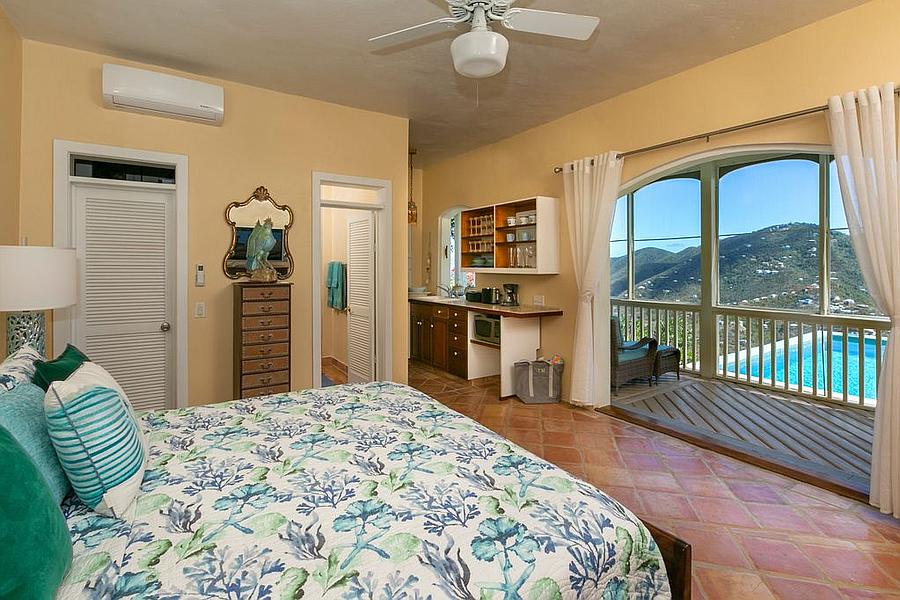 Bedroom off the deck
