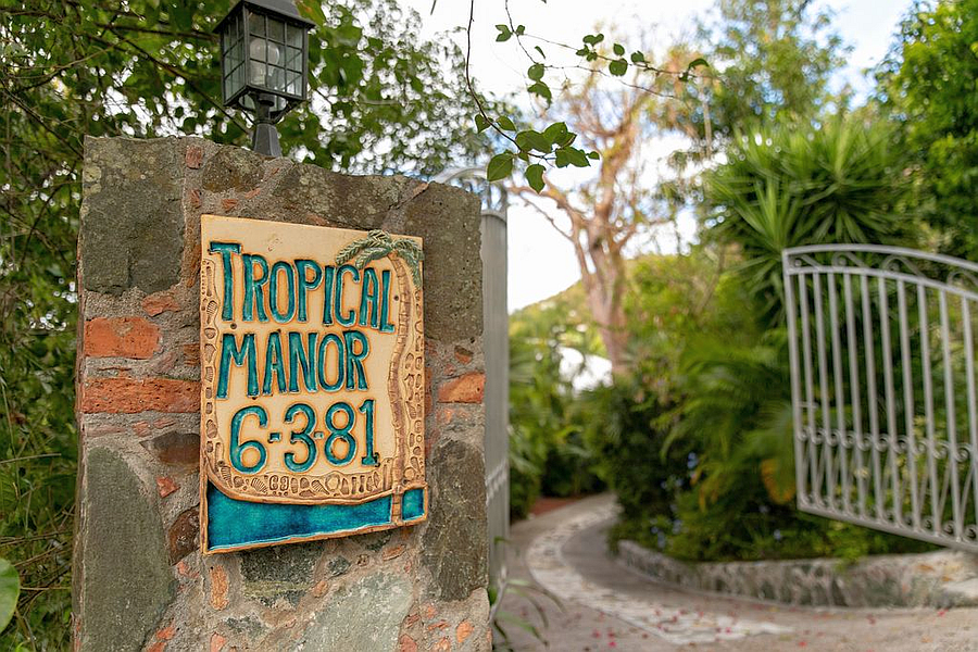 Gate at Tropical Manor
