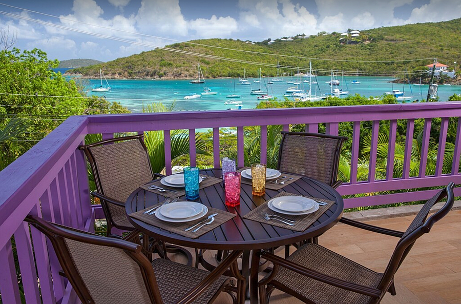 Dine outdoors with a view.