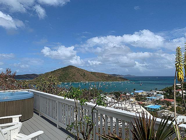 Island Cottage porch view.